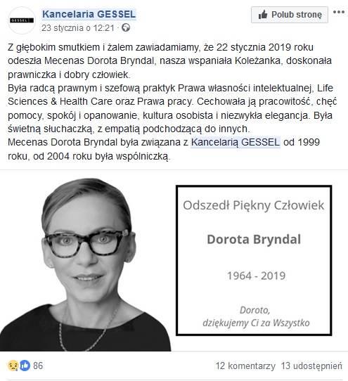 Wzruszające Pożegnanie żony Przez Rafała Bryndala Toruń